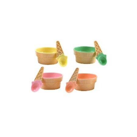 Fun Express 3L-26-2047 Plastic Ice Cream Dishes, 12-Pack