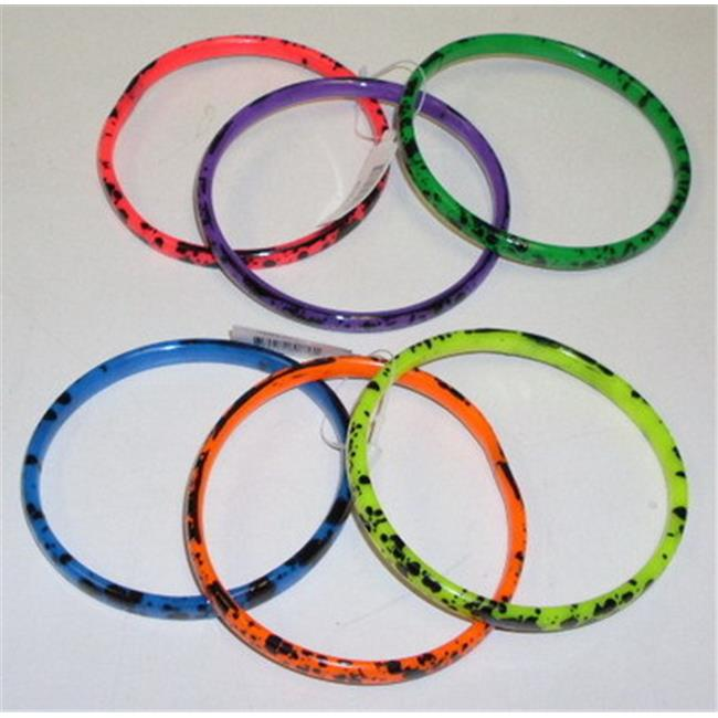 Nu-IMage International BA-326 Splatter Neon Bracelets, 12 Set by Nu-Image International