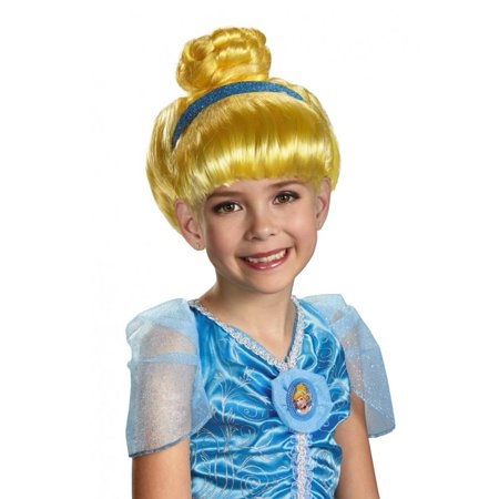 Disney Princess Girls Blonde Cinderella Wig - Blonde Disney Princess