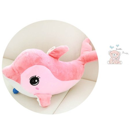 Kacakid 1 Pcxs Stuffed Animal Dolphin Plush Doll Toy Gifts For Kids Children Pink 30cm - Dolphin Plush