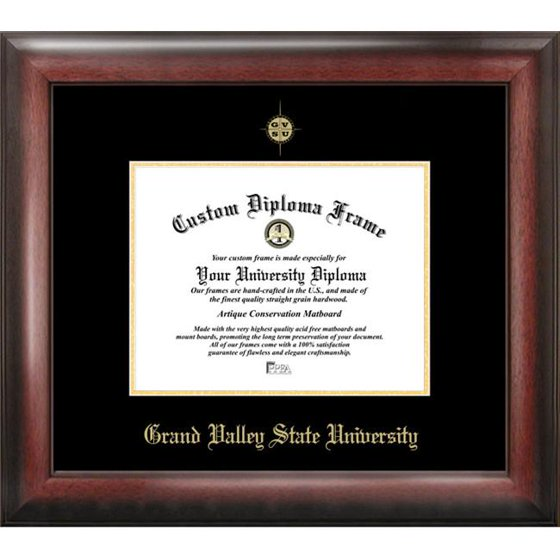 Grand Valley State University Gold Embossed Diploma Frame - Walmart.com