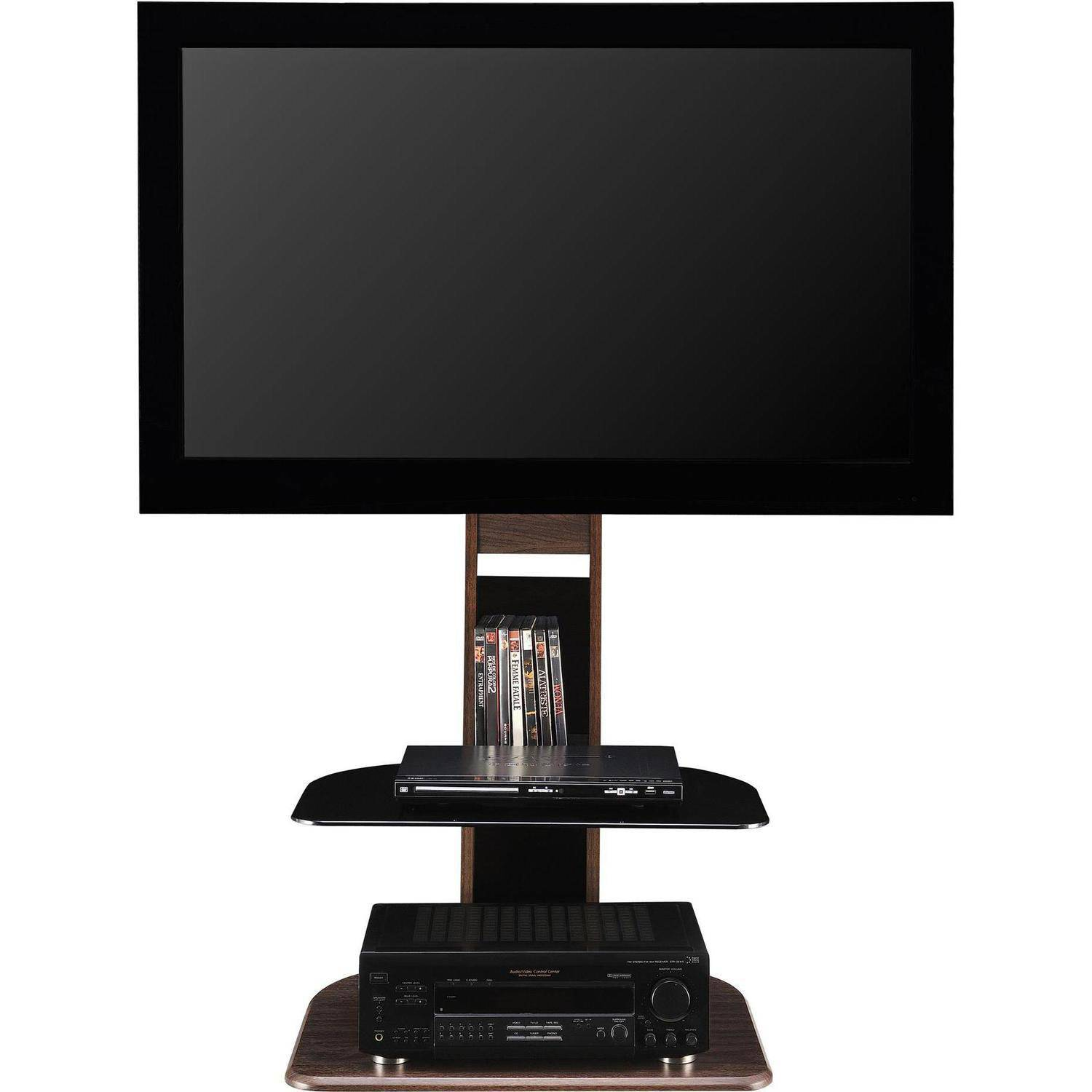 altra galaxy tv stand w mount for tvs up to 50 black brown entertainment media ebay. Black Bedroom Furniture Sets. Home Design Ideas