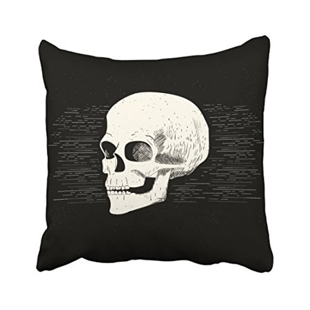 WinHome Colorful Vintage Halloween Skull Pencil Drawing Artistic Polyester 18 x 18 Inch Square Throw Pillow Covers With Hidden Zipper Home Sofa Cushion Decorative - Halloween Drawing Skulls