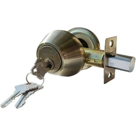 Constructor Deadbolt Door Lock Set with Single Cylinder Antique Bronze Finish
