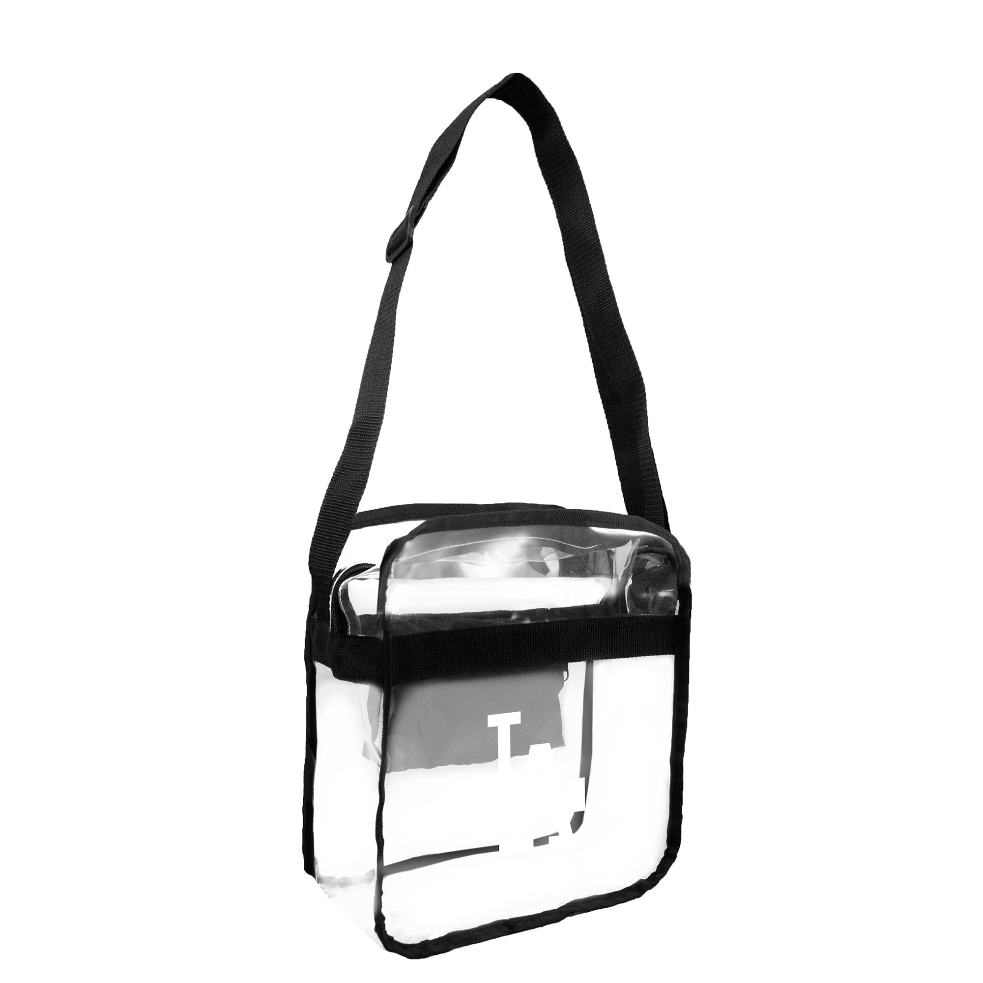 Little Earth - MLB Clear Carryall Cross Body Bag, Los Angeles Dodgers