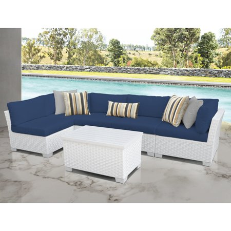 - TK Classics Monaco 6-Piece Outdoor Wicker Patio Conversation Set