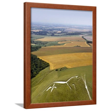 Uffington White Horse, Oxfordshire, UK Framed Print Wall Art By David Parker