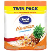 Great Value Hawaiian Automatic Spray Air Freshener Refill, 6.17 oz, (Pack of 2)