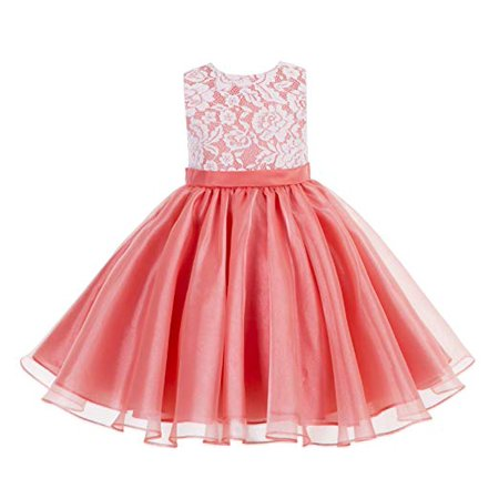 Lace Organza Flower Girl Dress Princess Dresses Special Occasion Dresses Toddler Girl Dresses Birthday Girl Dress Pageant Gown Ballroom Dance Evening