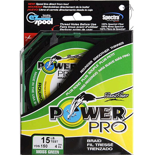 Power Pro Fishing Line - Moss Green, 150 yards, 15 lbs