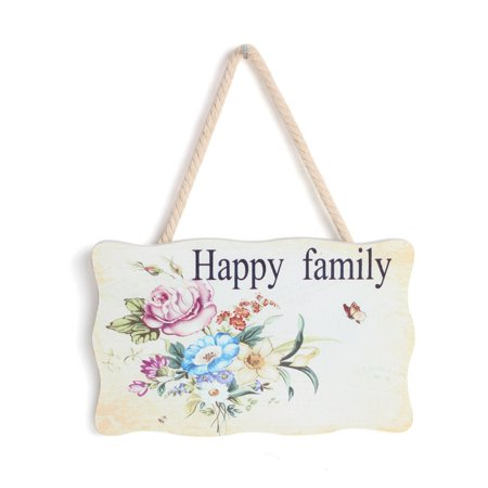 """Sexy Sparkles """"Happy Family"""" Decorative Wood Wall Hanging Sign [Kitchen]"""
