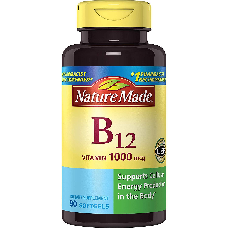 Vitamin B12 1000 mcg. Softgels 90 Ct Nature Made - 90 Count