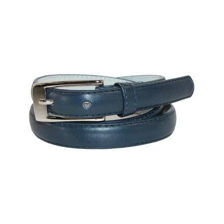 Women's Leather 3/4 Inch Skinny Dress Belt (Pack of