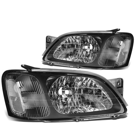 For 2000 to 2004 Subaru Legacy GT Headlight Black Housing Clear Corner Headlamp 01 02 03 Left+Right