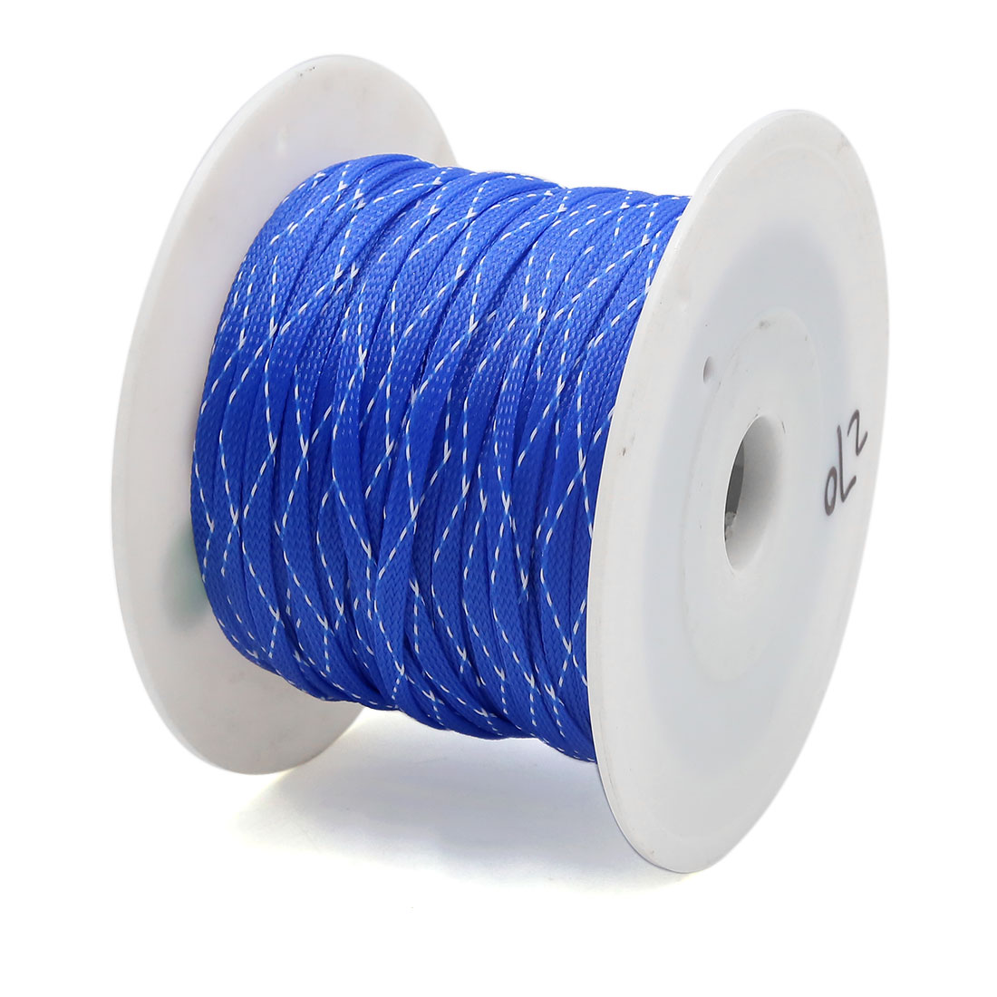 Blue White 100M x 7MM Polyester Audio Expanding Braided Sleeving Cable for Car - image 1 de 2