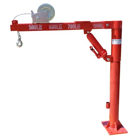Hiltex 1.5 Ton Cherry Picker | Truck Flatbed Winch Crane Hoist 1000 lb Lift