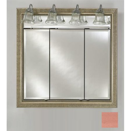 Afina Corporation TD-LT3834RSOHBZ 38 in.x 34 in.Recessed Triple Door Cabinet with Traditional Lights - Soho (Bronze Traditional Cabinet)