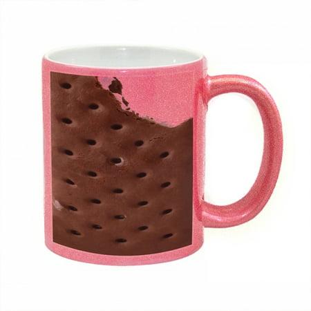 KuzmarK Pink Sparkle Coffee Cup Mug 11 Ounce - Ice Cream Sandwich_1