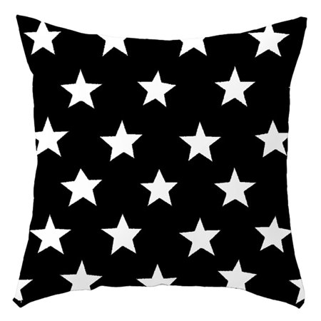 Creative Decorative Pillow Case Star Pattern Throw Pillow Case Cushion Cover Zippered Pillow Protector Bedroom Bedding Home Modern Decorations for Living Room Office Dorm Sofa Chairs Decor ()