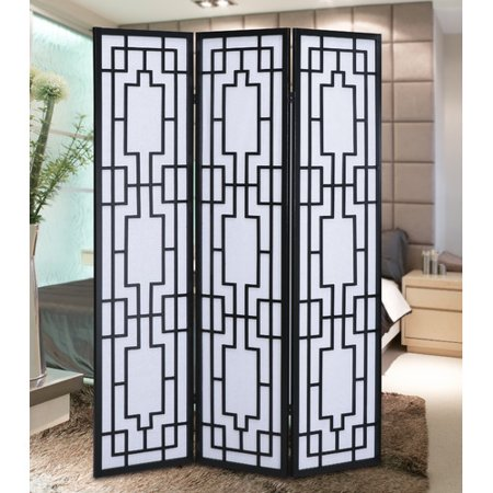 3 Panel Room Divider Screen (Roundhill Furniture Sudoku 3 Panel Room Divider)