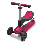 smarTrike T1 Scooter - 3 in 1, 15+M Three Wheel Scooter with seat - Pink