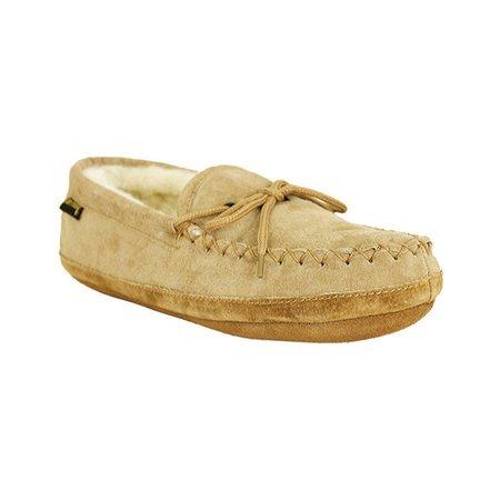 66e12898b76 Old Friend - Old Friend Footwear Men s Soft Sole Sheepskin Moccasin Slippers  481193-M - Walmart.com