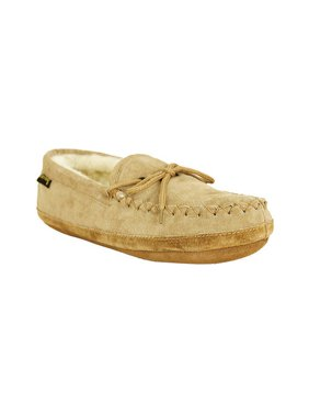 2394e70a1039 Product Image Old Friend Slippers Mens Sheepskin Soft sole Moccasin Chestnut  481193