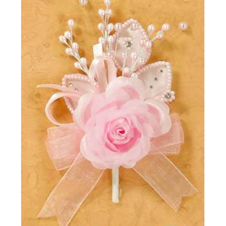 Pink Spray Pearl Rose Corsage Craft Project DIY Flowers Favors Craft Supplies 12 Ct - Corsage Diy