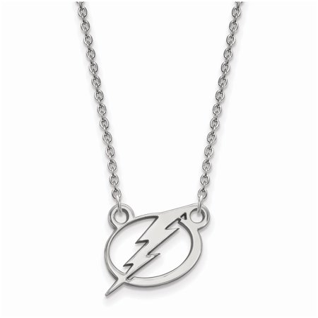 Tampa Bay Lightning Women's Sterling Silver Small Pendant Necklace - No Size Tampa Bay Lightning Window