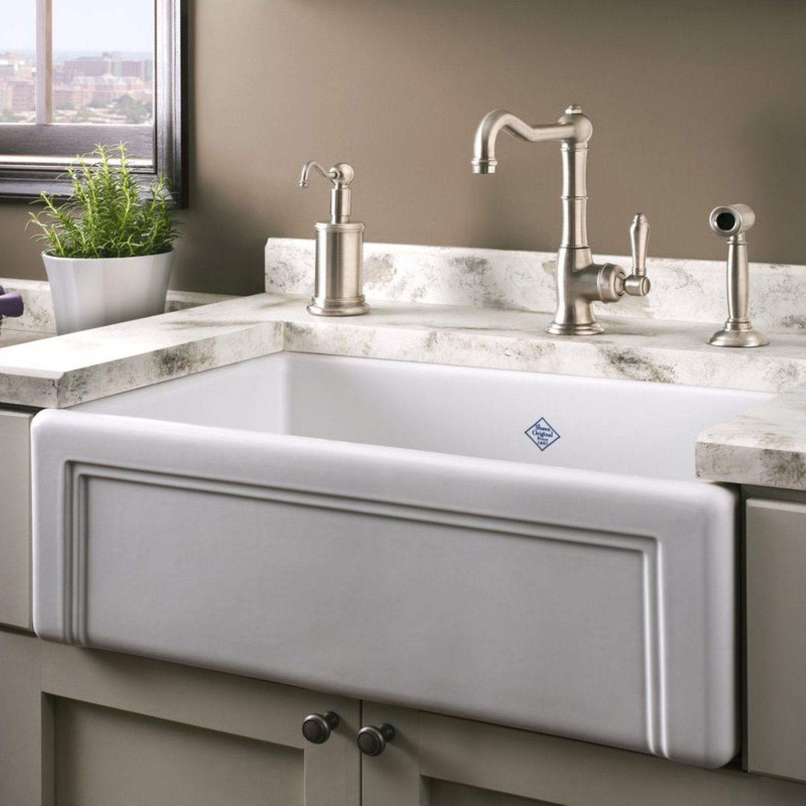 Rohl rc3017 shaws single basin farmhouse sink walmart com