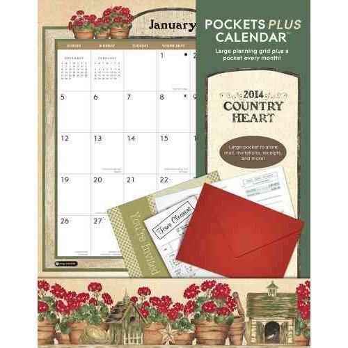Country Heart Pockets Plus 2014 Calendar