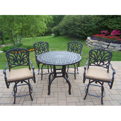Darby Home Co Bosch 5 Piece Bar Height Dining Set with Cushions