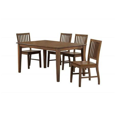 - Sunset Trading DLU-BR3660-C60-AM5PC Simply Brook Rectangular Dining Table Set - Amish Brown, 5 Piece