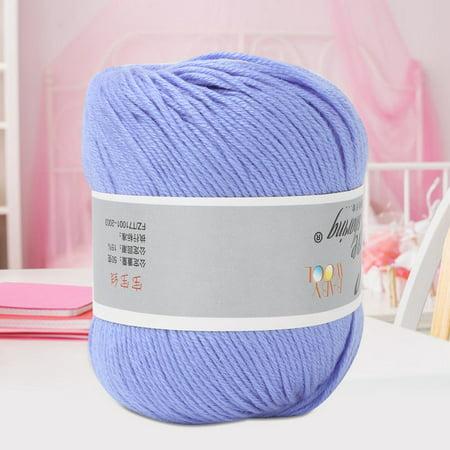 Fyydes Milk Cotton Yarn,Popular Baby Milk Thread  Thick Milk Cotton Line Manual  Weaving (With a Crochet),Milk Cotton Knitting Yarn - image 6 of 6