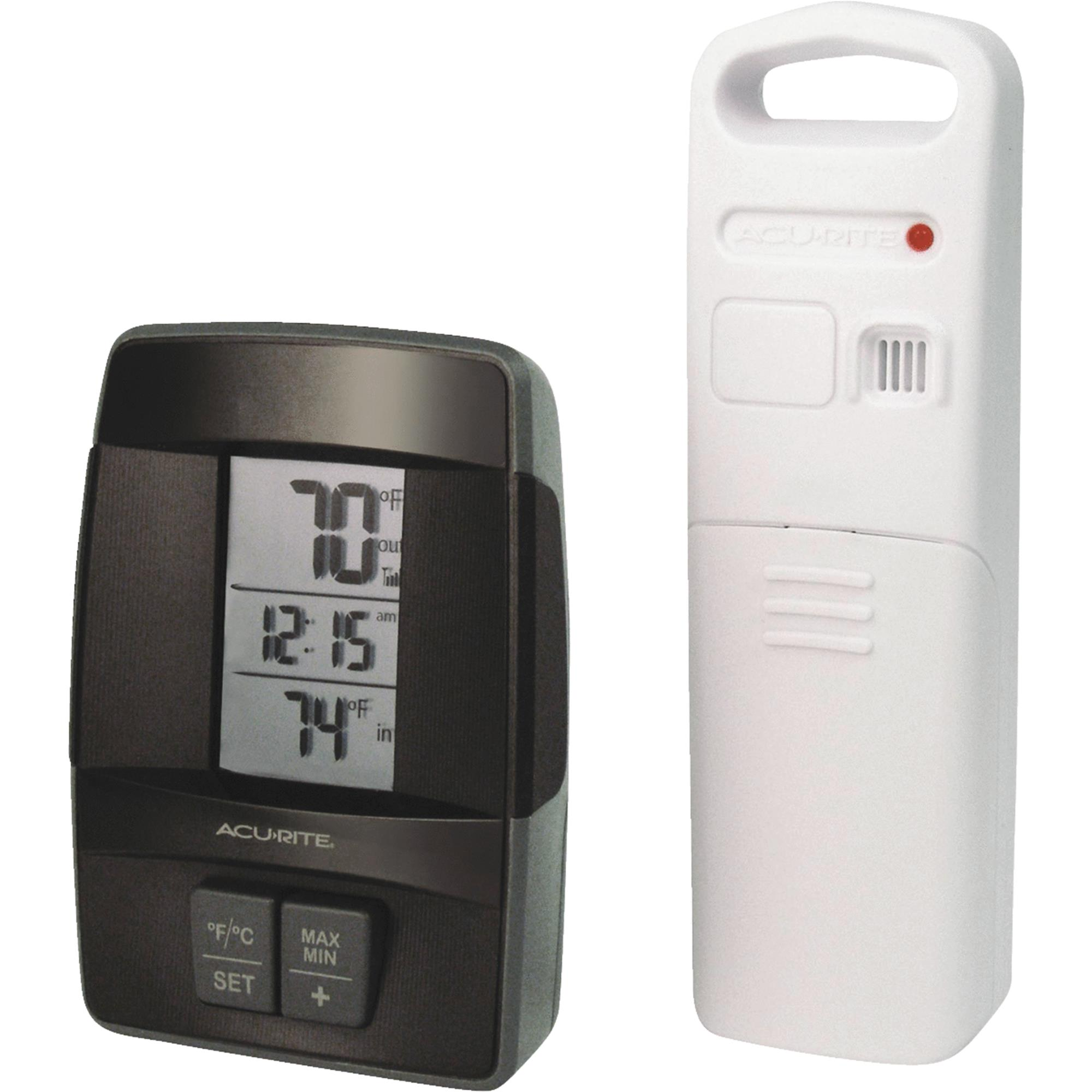 AcuRite Wireless Clock Indoor & Outdoor Thermometer by Chaney Instrument