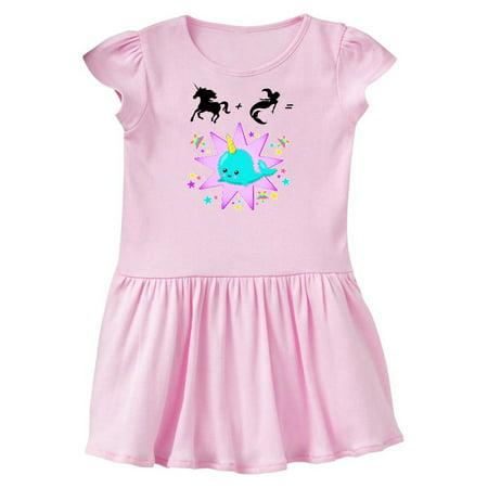 Unicorn Plus Mermaid Equals Narwhal- cute Toddler Dress