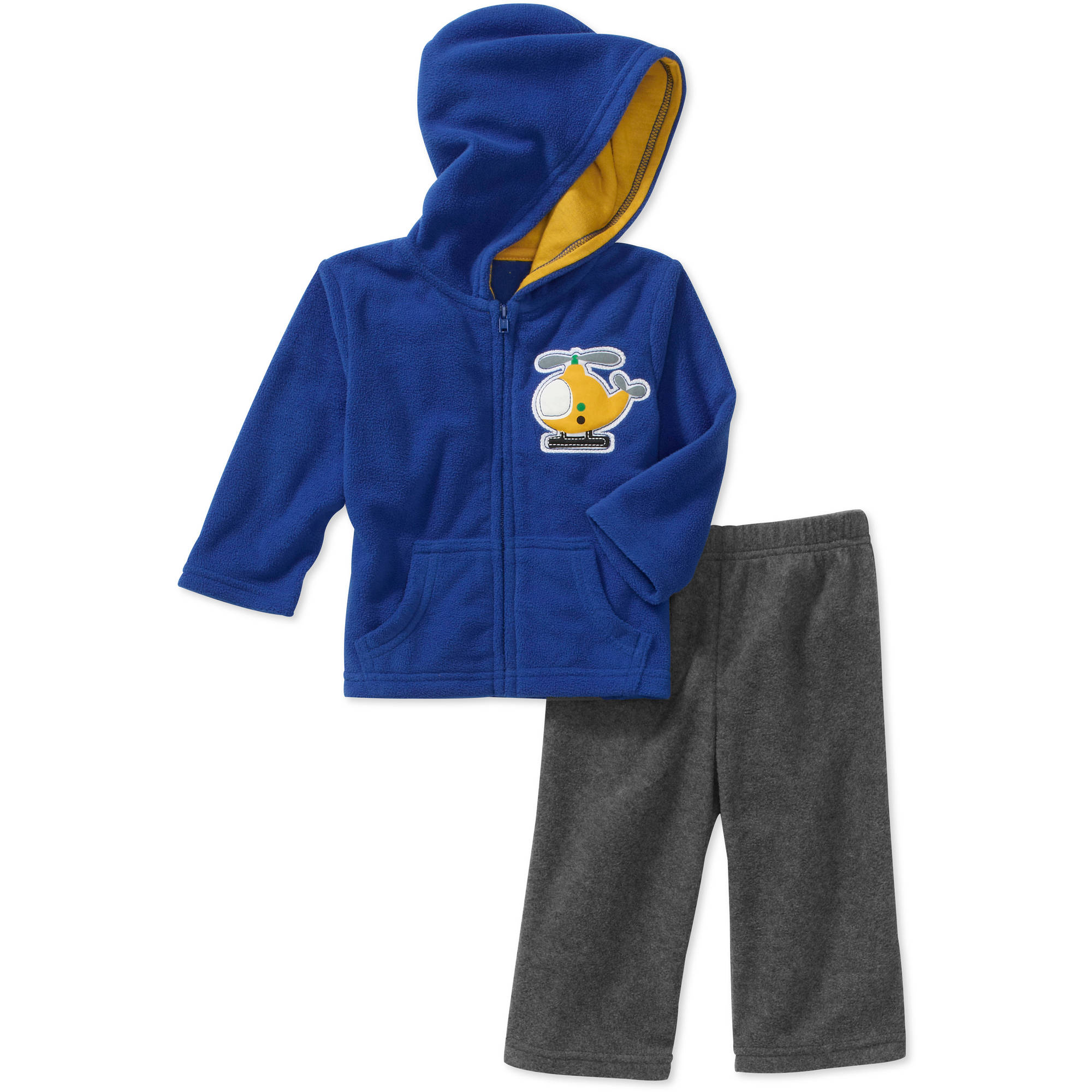 George Newborn Boys' 2-Piece Applique Hoodie and Pant Set