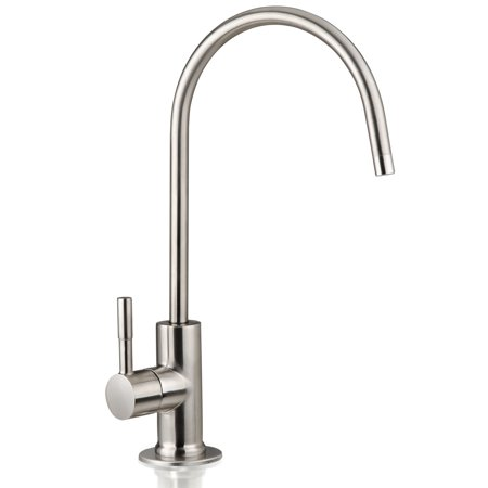 iSpring Water Filter Purifier Faucet European Style - Non Air Gap - Brushed Nickel Finish