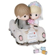 Figurine-Wedding-Bride & Groom In Car-Just Married N Luv