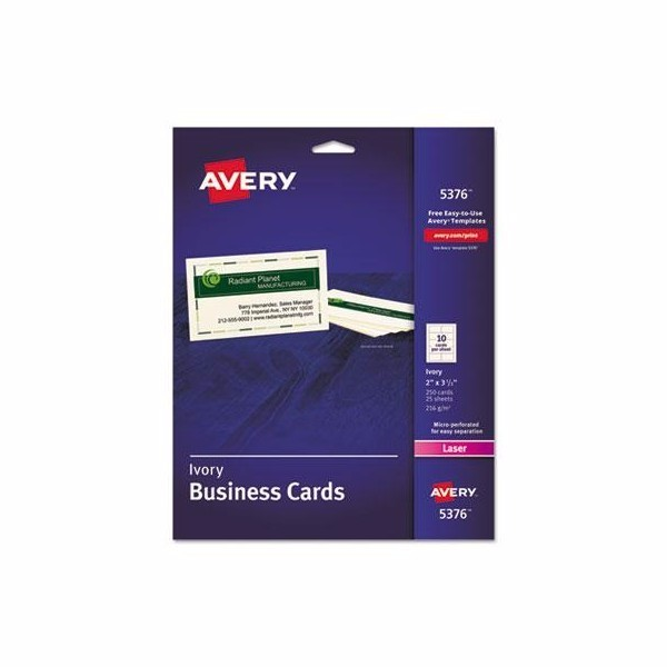 Avery Standard Printable Microperforated Business Cards