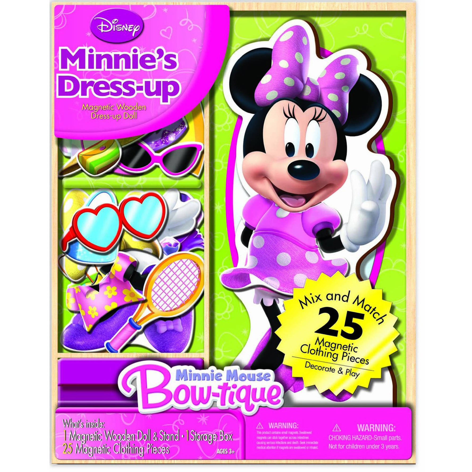 Disney Minnie Mouse Dress-up Wooden Magnetic Play Set, 25pc