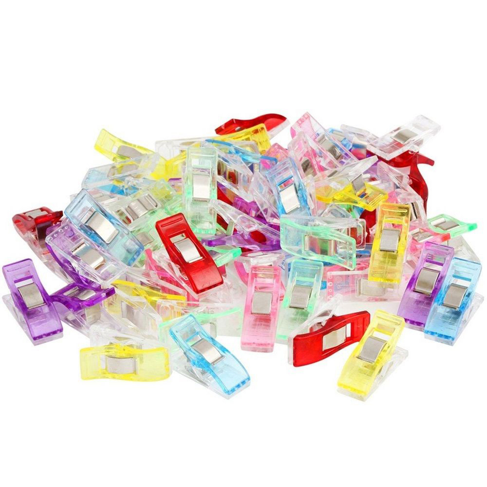 Heepo 20/50/100Pcs Quilter Holding Wonder Clips for Crafts Sewing Knitting Crochet
