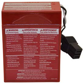 Replacement for FISHER 56.37 75548 POWER WHEELS BATTERY
