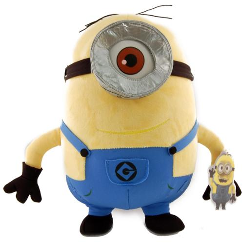 "Despicable Me 2 One Eyed Minion Stewart 12"" Plush by Toy Factory"
