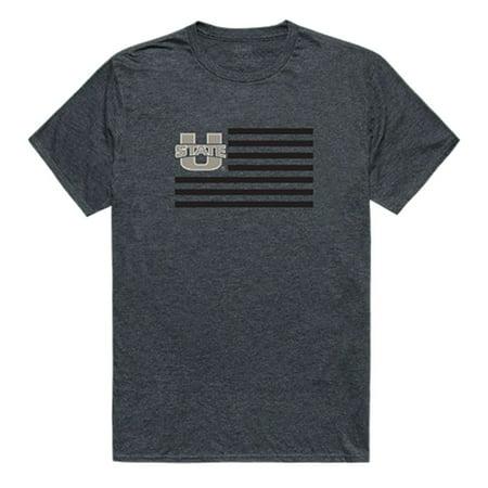 - Utah State University Aggies NCAA Flag Tee T-Shirt Heather Charcoal Medium