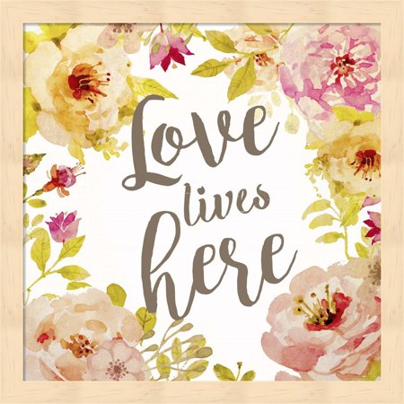 Loves Lives by Natasha Wescoat Framed Wall Art 13 25W x 13 25H