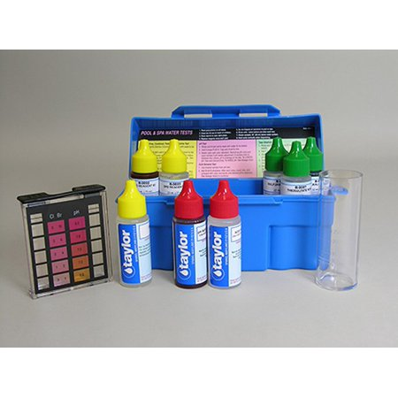Taylor K-1004 Safety Plus Swimming Pool Chlorine Bromine pH Alkalinity Test Kit