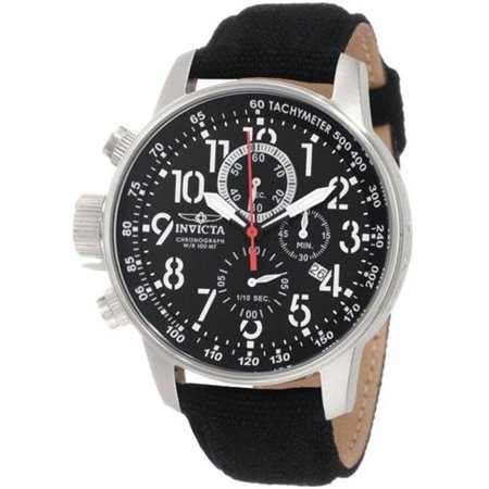 Invicta Men's I-Force 1512 Black Cloth Quartz Watch