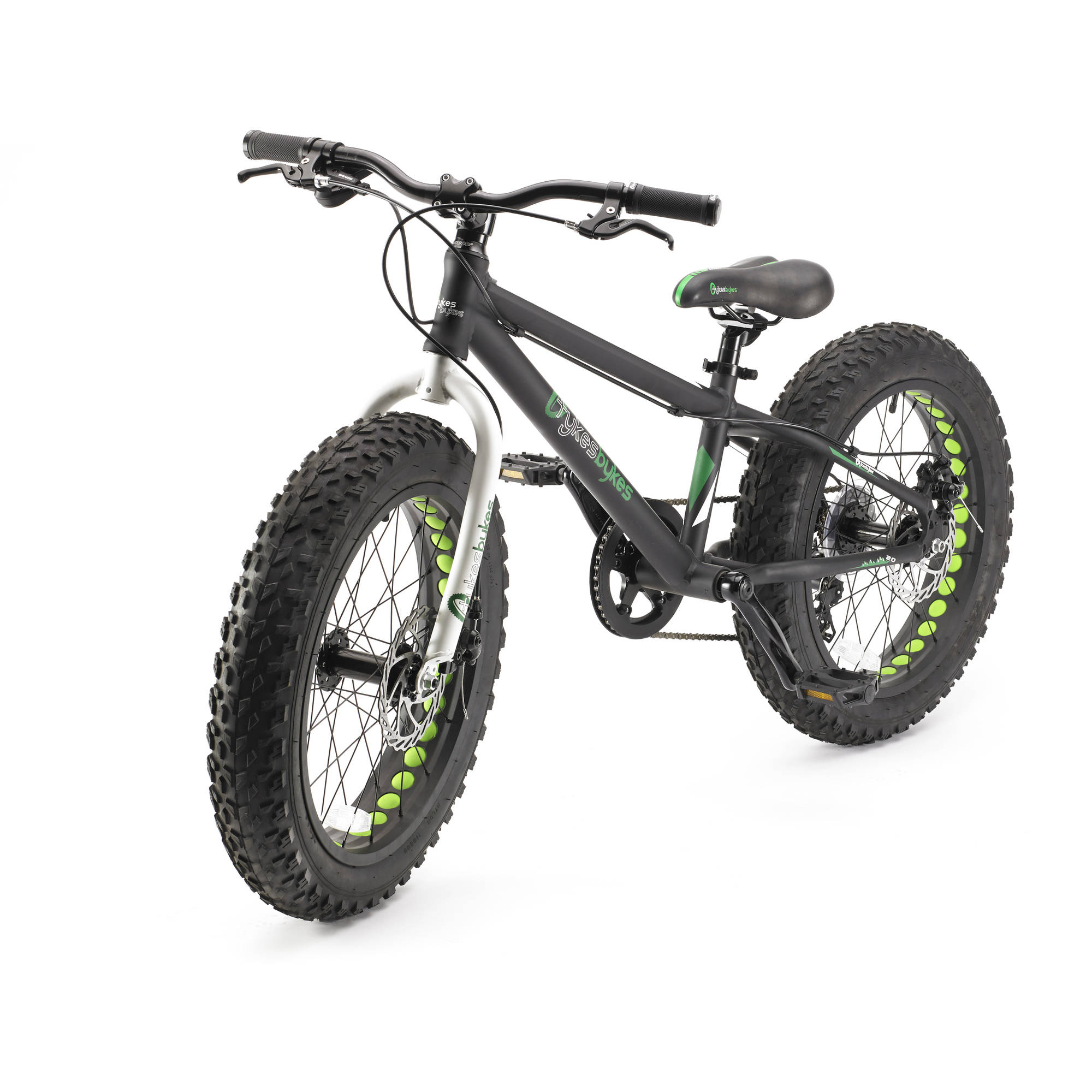 "20"" Tykesbykes Fat Tire Bike, Black"