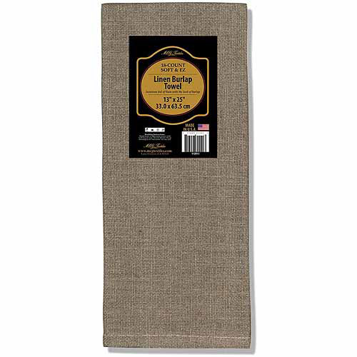 "Soft and EZ Linen Burlap Towel, 13"" x 25"""